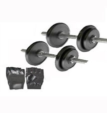Protoner 20 Kg Rubber Dumbells Sets With 2 Rods , 20Kg Weight & Gloves