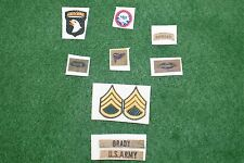 1/6 US 82nd Airborne Vietnam patch set