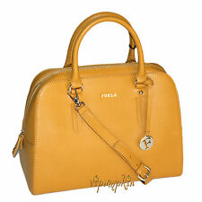 FURLA ELENA LARGE BAG GIRASOLE SUNFLOWER SAFFIANO LEATHER SATCHEL NEW $448