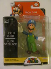 "World of Nintendo - Ice Luigi - 2.5"" Figure - Jakks Pacific - Light Wear"