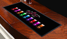 PERSONALISED ANY TEXT SHOTS DESIGN BAR RUNNER COCKTAIL PARTY PUB CLUB