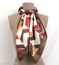 VINCE CAMUTO Multicolor Abstract Silk Women's Scarf 100% Silk NWT $69 Beautiful!