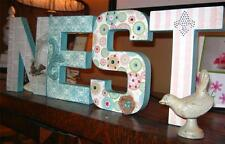 """NEST"" Paper Mache Letters -Hand Made Altered Art Design - for Home,Nursery,Gift"