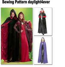 Women Men Cape Halloween Costume Sewing Pattern  4139 McCall's New Size S-XL c