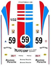 #59 BRUMOS PORSCHE 1/32nd Scale Slot Car Waterslide Decals