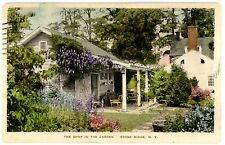 Stone Ridge NY - THE SHOP IN THE GARDEN - Handcolored Postcard