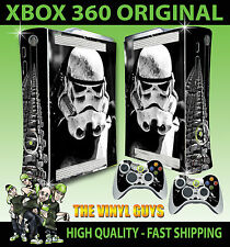 XBOX 360 ORIGINAL STORMTROOPER STAR WARS EMPIRE SOLDIER STICKER SKIN + PAD SKINS