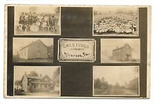 RPPC 6 Views of MILLBROOK PA Mercer County Pennsylvania Real Photo Postcard