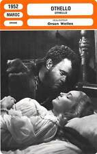 FICHE CINEMA :  OTHELLO - Orson Welles,MacLiammóir 1952
