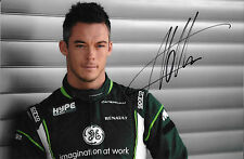 Andre Lotterer SIGNED F1 Caterham-Renault Portrait, Belgian GP Spa 2014