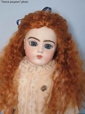 """perruque longue rousse tête22/23cm poupée ancienne moderne-Doll wig head sz9"""""""