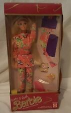 Mattel 1991 Cute 'n Cool Barbie NRFB Mix & Match Clothes 2954-0910
