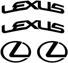 Lexus Curved Brake Caliper High Temp Vinyl Decal Sticker (Any Color)