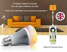 ** NEW ** MiLight RGB Colour + Dual White 2.4GHz LED Light Bulb (inc Remote)-E27