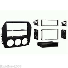 CT24MZ20 MAZDA MX-5 2009 to 2015 MATT BLACK SINGLE OR DOUBLE DIN FASCIA ADAPTER