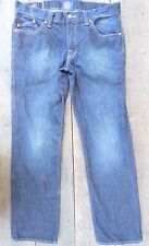 ** ROCK N REPUBLIC  ** Rigid Embossed Back Pkt Dark Jeans 34 x 31
