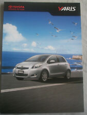 Toyota Yaris brochure 2010 UAE market English text