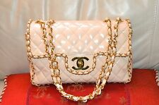 AUTHENTIC, TRULY BEAUTIFUL VINTAGE, THE ORIGINAL CHANEL CHAIN AROUND LARGE BAG.