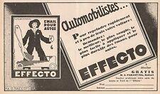 Y8931 Email pour autos EFFECTO - Pubblicità d'epoca - 1929 Old advertising