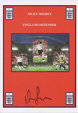 NICKY SHOREY Signed 12x8 Print FC PUNE CITY & ENGLAND COA