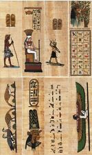 "12 Assorted Mini Papyrus Egyptian Bookmarks 4.5"" in Length"