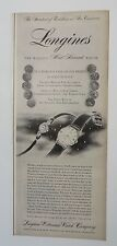 Original Print Ad 1955 LONGINES Wittnauer Watch Company Vintage Photo