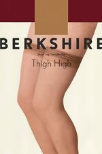 Berkshire Sheer Leg Invisible Toe Thigh-Hi City Beige Stockings Size Queen 1