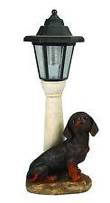 Gardenwize Jardín Patio LED Solar Luz Lámpara Post Perro Salchicha Cachorro Perro Ornamento