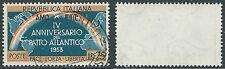 1953 TRIESTE A USATO PATTO ATLANTICO 25 LIRE FILIGRANA LETTERA - L7