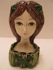 Vintage 1966 Hong Horizons Paper Mache Vanity Lipstick Holder Exotic Woman
