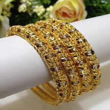 Indian jewellery Bollywood Asian Bridal Ethnic Wear 22ct Gold Plated Bangles 2.8