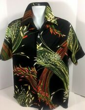 Nani of Hawaii Hawaiian Shirt Size Large L Pointy Collar Polyester Vintage 70's