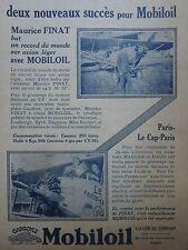 9/1928 PUB VACUUM OIL MOBILOIL FINAT SALMSON CAUDRON PETIT PARISIEN PARAMOUNT AD