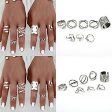 Fashion Mid Midi Above Knuckle Ring Band Gold Silver Tip Finger Stacking Rings =