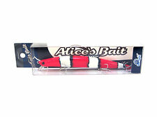 "NEW LONG JERK ""ALICE'S BAIT"" MINNOW 140 SLIM SINKING COLOR: NEMO"