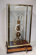 24K Plated Fusee Scissors Clock--Amazing Motion In Action