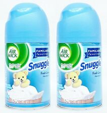 2 REFILLS Air Wick Freshmatic Ultra SNUGGLE FRESH LINEN Automatic Spray Refill