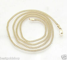 "23"" 2.2mm Miami Cuban Chain Necklace Lobster Real Solid 10K Yellow Gold 8.1gr"