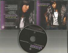 MASHONDA Back of Da Club EDIT & INSTRUMENTAL & MP3 FORMAT PROMO DJ CD Single