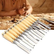 12PCS Wood Carving Hand Chisel Set Woodworking Professional Lathe Gouges Tools