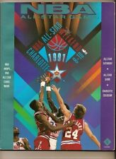 1991 NBA All Star Game Program Charlotte Basketball