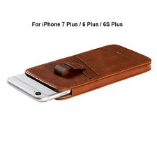 iPhone 7 Plus /6 Plus /6S Plus Sleeve, FUTLEX Genuine Vintage Leather Pull Tab