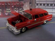 56 1956 CHEVY NOMAD FIRE CHIEF'S CAR 1/64 SCALE COLLECTIBLE MODEL - DIORAMA
