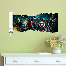Removable 3D The Avengers Art Wall Sticker Decal Mural for Home Room Decoration