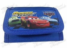 Disney Pixar Cars Lightning Mequeen Teen Boys Tri-Fold Wallet - Blue