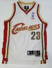 Cleveland Cavaliers #23 Lebron James Jersey YOUTH SMALL (8) Sewn White