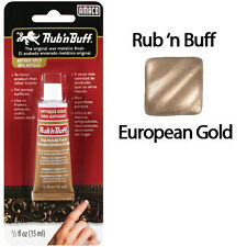 Rub N Buff Wax Metallic Finish European Gold 76310P by AMACO