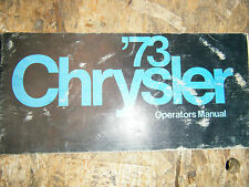 1973 CHRYSLER NEWPORT NEW YORKER FACTORY OWNERS MANUAL OPERATORS