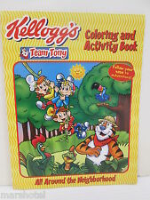 KELLOGGS CEREAL TEAM TONY COLORING ACTIVITY BOOK ALL AROUND THE NEIGHBORHOOD