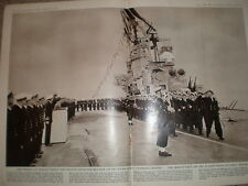 Photo article Queen Prince Charles take salute aircraft carrier Hms Eagle 1959